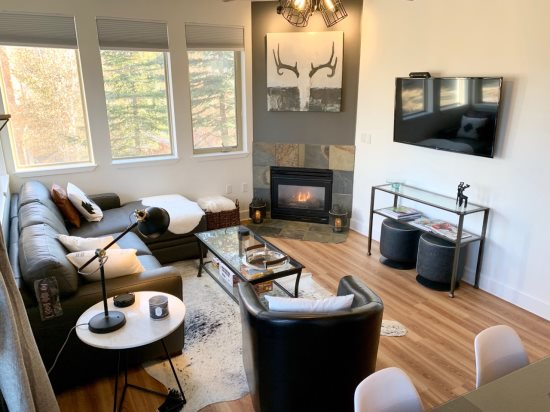 Cozy Living Room w\/Gas Fireplace