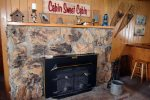 Massey`s River Retreat Living Room Fireplace