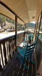 Rustic Retreat Upstairs King Bedroom Balcony