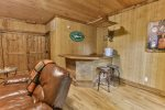 Lower deck offers views and the hot tub