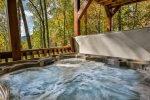 Relax in this spacious hot tub with gorgeous views