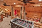 Loft game area and built in bunks