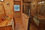 Queen bedroom private bath with luxurious walk in shower