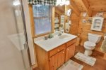 Full bath on Upper level with walk-in shower.