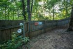 Large fenced in area for your four legged friends
