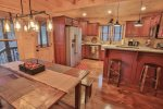 Gourmet kitchen with dining room