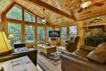 Spacious living room with views of the Cartecay