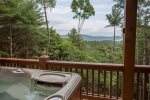 Enjoy the wonderful views from the luxury hot tub