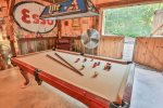 Pool Table in the game barn