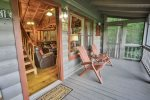Welcoming screened front porch to enjoy