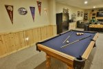 Pool table located on terrace level