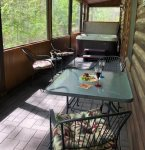 Enjoy the hot tub with screened in porch