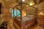Upstairs Log Queen Bed
