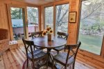 Dining room seating for 4 additional guests