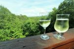 Enjoy a glass of wine while taking in the view