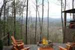 Fire pit over looking the beautiful North Georgia Mountains