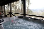 Hot tub over looking the stunning North Georgia Mountains