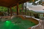Hot tub overlooking the beautiful North Georgia Mountains