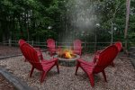come relax around the fire pit in the North Georgia Mountains