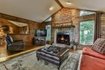 Great room with fireplace and comfortable seating
