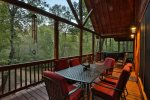 Enjoy the private serene back porch