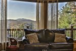 Stunning view of the North Georgia Mountains from the main level deck