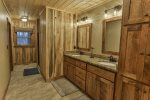 Full private master bathroom