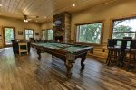 Pool table in terrace level game room