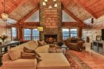 Curl up on the couch and enjoy a nice warm fire and take in the views of the North Georgia Mountains