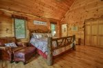 Upper king master with private deck, TV, and private bathroom