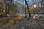 Enjoy a fire down by the Coosawattee River at Rapid Retreat