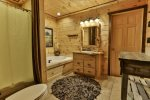 King master private bathroom