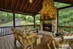 Wonderful outdoor fireplace to enjoy the cool mountain evenings with family