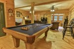 Terrace level pool table