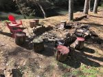 Seating for 4 or more at the rivers edge fire pit