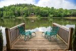 Enjoy your morning coffee on the dock with beautiful views of the lake