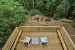Relax on the new deck in this tranquil setting and enjoy the sounds of the babbling creek nearby