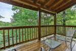 Private deck off master with views of mountain range