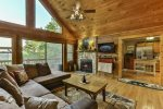 Open floor plan offers gorgeous views from every room