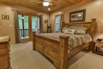 Queen Bedroom with deck access.