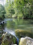 Mountaintown Creek is the perfect place to fish for trout.
