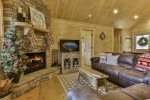 Enjoy a cozy fire or relax with a good book or movie