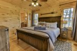 The king master bedroom with private bath