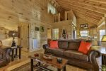 The expansive open floor plan invites you in