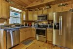 Kitchen with updated stainless steel appliances