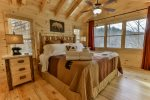 Upper level King master bedroom with private bathroom an fantastic views