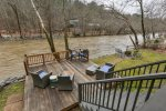 The Coosawattee River awaits you at Lazy River Lodge