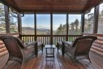 Upper level private deck