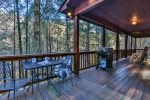 Main level porch with grilling access
