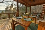 Enjoy a glass of wine or two in the hot tub